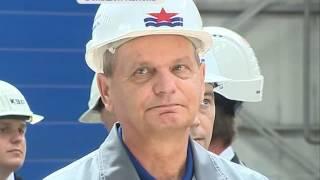 Владимир Путин посетил завод «Звезда» в Большом Камне