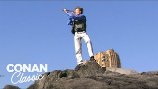 Conan Goes Birdwatching In Central Park - Late Night With Conan OBrien
