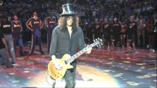 Slash plays the National Anthem
