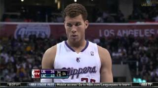 Los Angeles Lakers vs  Los Angeles Clippers 1/14/2012 2nd Quarter
