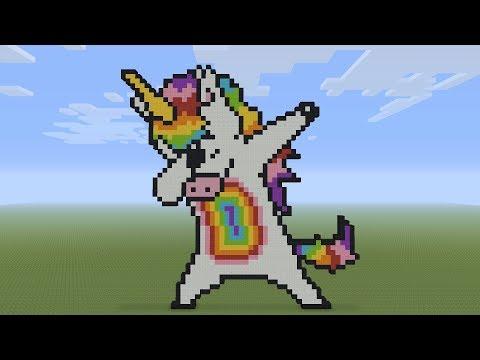 Minecraft Pixel Art Dabbing Unicorn Rocketzer0 Video