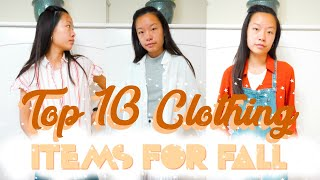 Top 10 Clothing Items Fall 2018 // Fall and Autumn Clothing Favorites // What to Wear During Fall