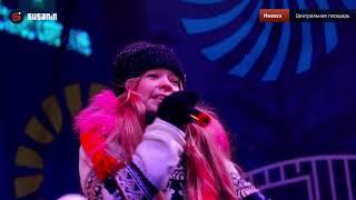 На Центральной площади Ижевска открыли Главную ёлку и Ледовый городок