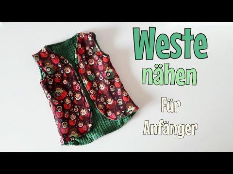 Weste Nähanleitung - OHNE Schnittmuster - Wendeweste - Nähtinchen