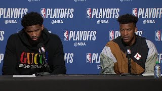 Joel Embiid & Jimmy Butler Postgame Interview   Game 7 | 76ers Vs Raptors | 2019 NBA Playoffs