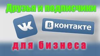 Друзья и подписчики Вконтакте для бизнеса