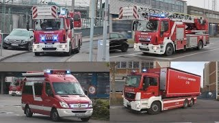 preview picture of video '[LÖSCHZÜGE & WLF...] Berufsfeuerwehr + Rettungsdienst Mannheim auf Einsatzfahrt (HD)'