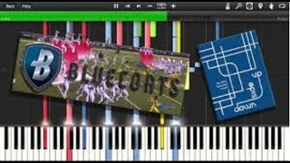 "🎹 Synthesia   Bluecoats 2016 - ""Downside Up"" (+ PDF, MIDI, MP3, MSCZ) [HD]"