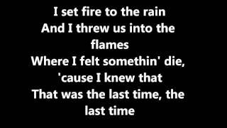 Set Fire To The Rain -Adele[LYRICS]
