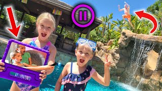 Pause Challenge With Addy and Maya!!