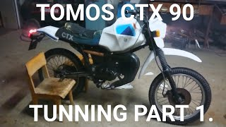 TOMOS CTX 90 TUNNING PART 1. CYLINDER AND FIRST START