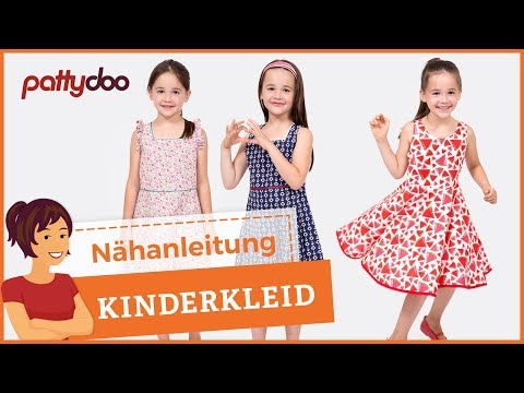 Einfaches Kinderkleid mit Schleife und Tellerrock nähen - Saum mit Schrägband
