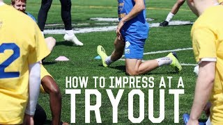 How To Get A Football Trial & Impress The Coaches | Behind The Scenes Of An Open Tryout
