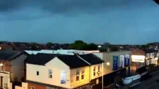 preview picture of video 'thunder Lightning strike over southport caught on camera on my iPhone 5s and slowed down'