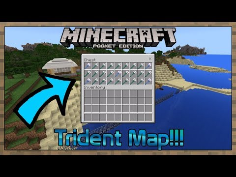 OP ENCHANTED TRIDENT IN MINECRAFT 1 3 (MCPE 1 3 Beta