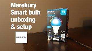 Merkury smart bulb unboxing & setup