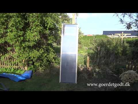 Hjemmelavet solpanel med ventilation / varme