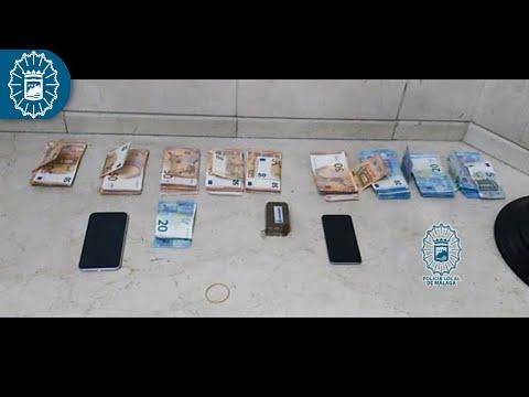 Dos detenidos en Málaga con 100 gramos de hachís en el coche
