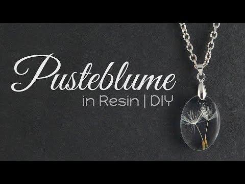 Pusteblume Resin Kette   Schmuck DIY   Anleitung Gießharz Tutorial   How to: Halskette selber machen