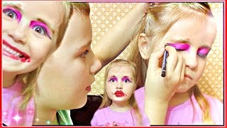 МАКИЯЖ ЧЕЛЛЕНЖ 👄БРАТ ДЕЛАЕТ МАКИЯЖ СЕСТРЕ 💄 My Brother Does My Makeup TAG #CHALLENGE 🌹 MILASHKA