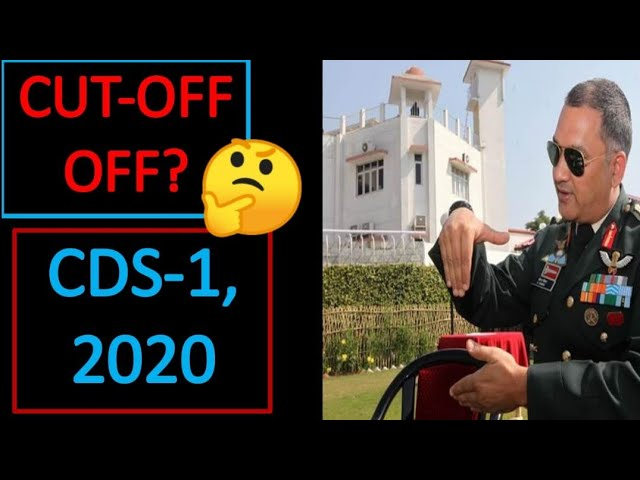CDS 1 2020 EXPECTED CUTOFF || CDS 1 2020 RESULT DECLARED