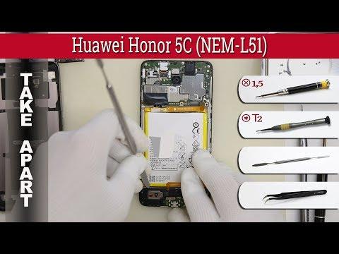 How to disassemble 📱 Huawei Honor 5C (NEM-L51) Take apart Tutorial