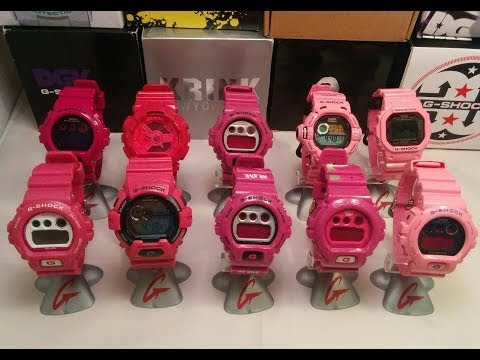 Casio G-SHOCK Pink colour comparison, Bape, Lovers 2010, Hyper, riseman GW-9200KJ-4JR. HD