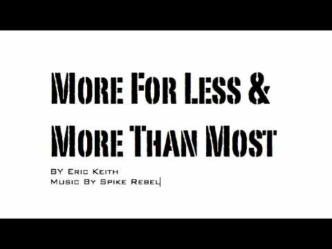 Eric Keith - More For Less & More Than Most
