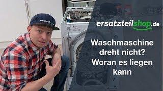 Waschmaschine dreht nicht mehr - Fehleranalyse