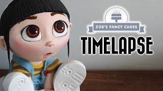 Despicable Me 3D Agnes Cake TIMELAPSE