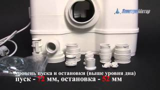 Канализационная установка Grundfos Sololift2 WC-3 - видео 1