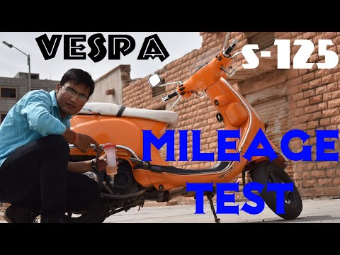 Vespa s 125 Real mileage test