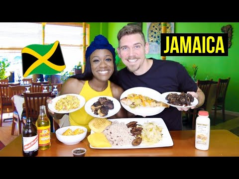 American Couple Tries JAMAICAN FOOD For The FIRST TIME | Ackee & Saltfish, OxTail, Jerk Chicken