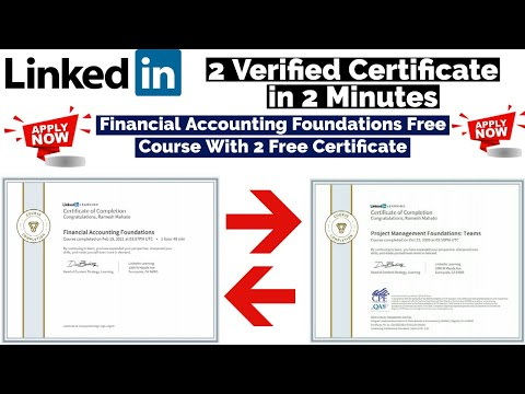 LinkedIn 2 Free Certificate in 2 Min   Financial Accounting ...