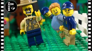 Lego Police Academy School Mountain Forest Obstacle Course Brickfilm Stop Motion Animation