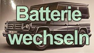 Batterie wechseln G-Klasse / G-Modell Mercedes (Starterbatterie)
