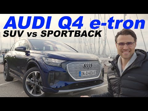 Audi Q4 e-tron SUV vs Sportback driving REVIEW - now the best EV SUV ? ⚡