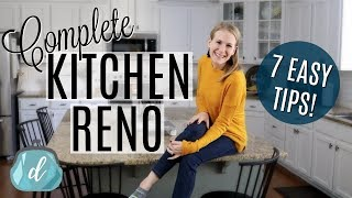 BEFORE & AFTER Kitchen Renovation On A BUDGET!