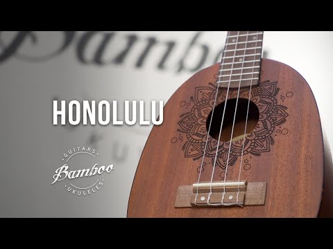 BAMBOO Honolulu Concert Ukulele Earth Series Acoustic   For Beginners and Professionals   Sapele & Walnut   With Gig Bag (New Generation)