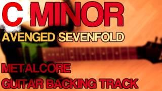 Avenged Sevenfold A7X / Metalcore Guitar Backing Track [ C Minor / Drop C ]