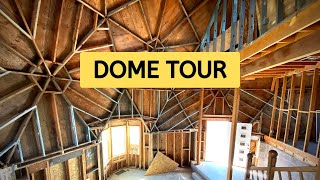 GEODESIC DOME TOUR - Complete Interior Home Tour Of Our 3 Story Geodesic Dome.