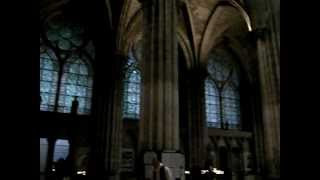 preview picture of video 'Visiting The World's First Gothic Cathedral -- Saint-Denis, France -- 2 April 2010'