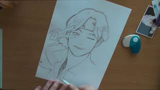 how to draw v bts