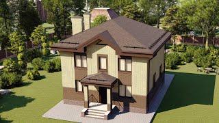 Проект дома 136-B, Площадь дома: 136 м2, Размер дома:  10x10 м