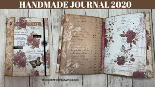 HANDMADE JOURNAL, WITH UNUSUAL SPINE ~ LETS KEEP TRACK