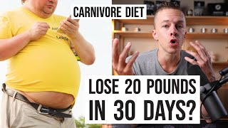 Carnivore Diet Weight Loss: 20 Pounds in 30 Days?!