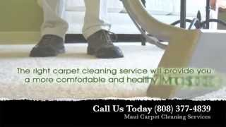 preview picture of video 'Carpet Cleaning Maui (808) 877-8989 - Best Shampoo Steam Cleaners in Kahului'