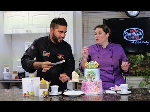 Cake World Tv Episode 8   How to make buttercream cake   Chef Ali Mandhry   Sabrina Ricks Avery