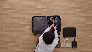 ±0 スーツケース 34L B010 ブラック