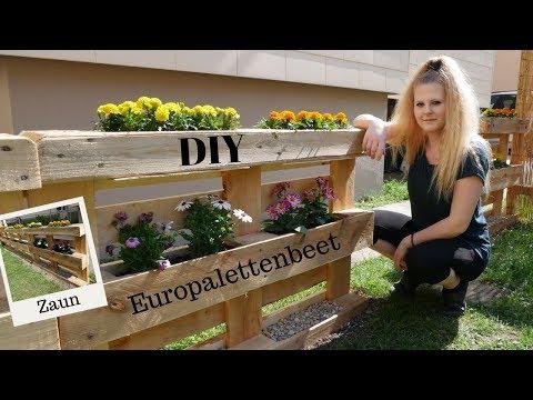 DIY Beet & Zaun aus Europaletten   so geht´s   Blumenbeet für den Garten    Katherina Kathi
